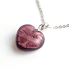 Heart 목걸이 NO.95 (Dark Amethyst)